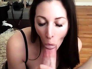 Fetish slut handjob and blowjob with tit fuck for whore
