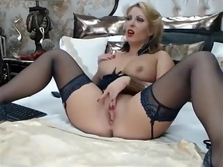 Blonde Webcam Girl With Big Fake Tits