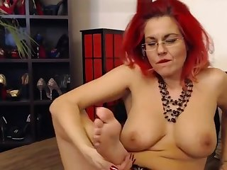 redhead mature wife self feet worship