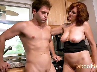 Grandmother wants his young pulsating cock