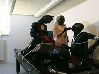 German Copulation Slaves In Black Leather And Latex