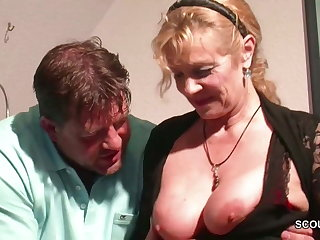 Senior libertine wants big boobs of old horny slut