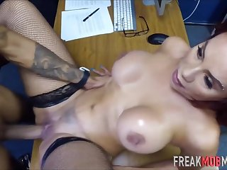 Nasty Breasty Latina Getting Fornicateed Deep