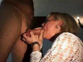 CFNM amateur girls suck a stripper at a CFNM party