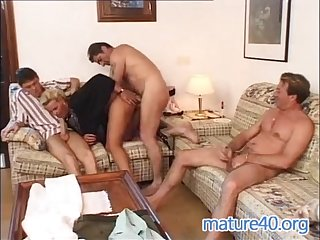 Three men nail german housewife