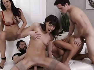 A Lovely mature cougar orgy