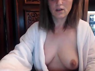 Redhead adult on webcam