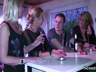 Three German matures seduce Young Babe Boy to Shag in Grop sex Hardcore