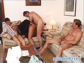 Three men nail german housewife