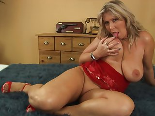 Massive tits Gitte rides on a friend's penis like no one before